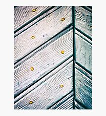 Planks and rusty nails Photographic Print