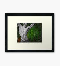 Towel Boy v2 Abs attitude Framed Print