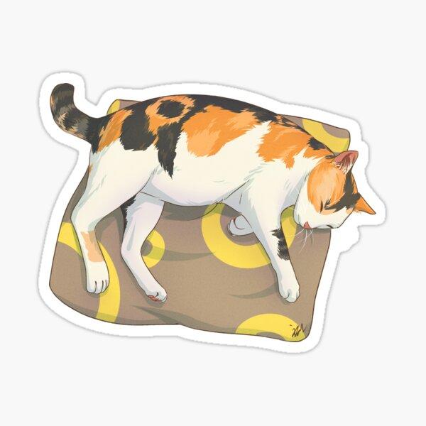 Sleeping Cat Tricolor Calico Sticker