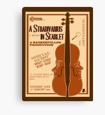 A Stradivarius in Scarlet Canvas Print