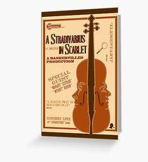 A Stradivarius in Scarlet Greeting Card