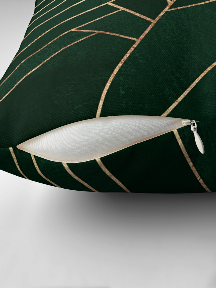 Alternate view of Emerald Night - Dark Floor Pillow