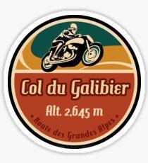 Col du Galibier 01 Motorrad T-Shirt + Aufkleber - Route des Grandes Alpes Sticker