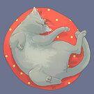 Sleeping Cat Russian Blue by maygreen