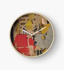 ready made collage from Paris metró- Pink and yellow signed Clock