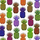Neon Pineapple Design by dotsofpaint