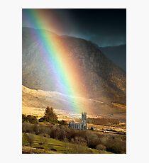 Church Under The Rainbow Photographic Print