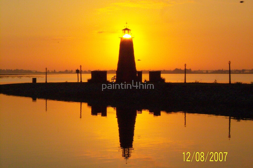 lighted lighthouse by paintin4him