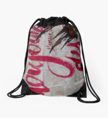Ready Made Collage from Paris Metró- toujour l'amour Drawstring Bag