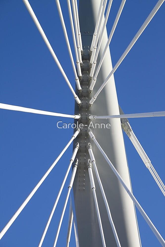 Abstract Bridge Lines #2, Winnipeg, Manitoba, Canada by Carole-Anne