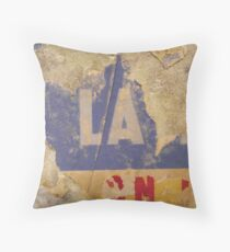 Untitled ready made collage from Paris Underground Throw Pillow