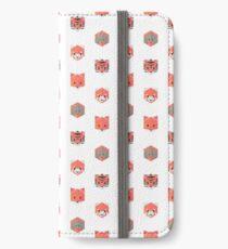 Orange Animinimal (white) iPhone Wallet/Case/Skin