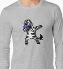 Abtupfendes Zebra-Hemd-Tupfen-Hip Hop lustig Langarmshirt