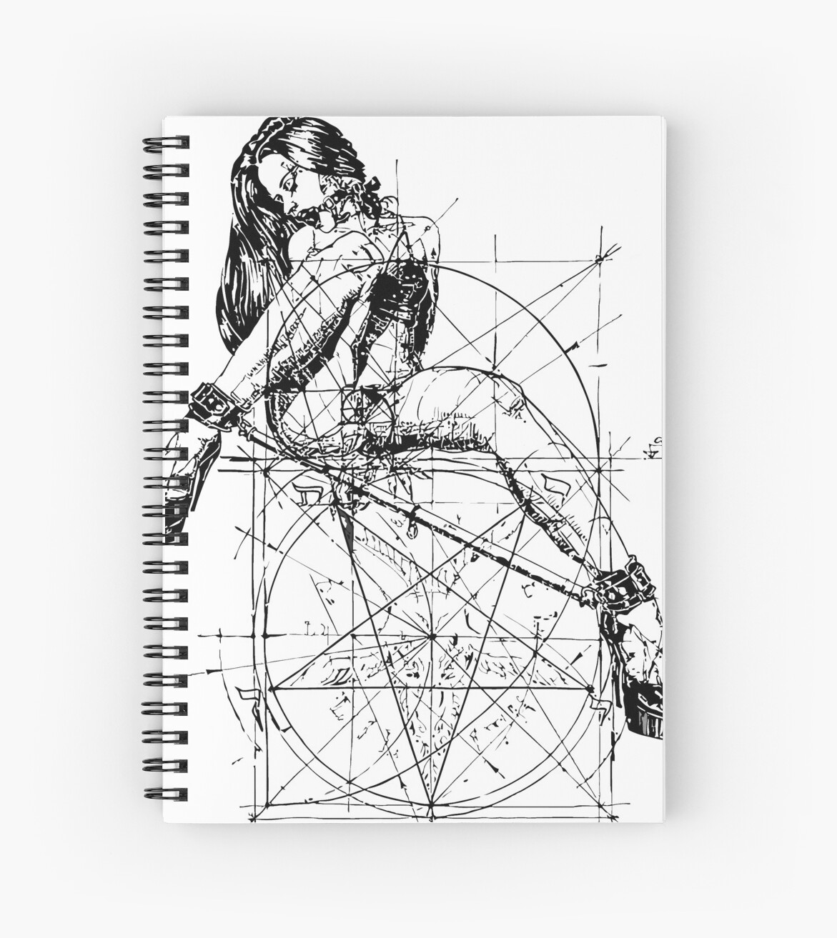 Quot Sad Satan Woman Drawing Quot Spiral Notebooks By Nido88