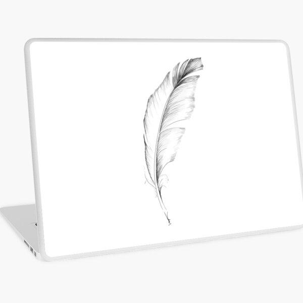Feather sketch Laptop Skin