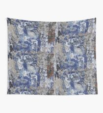 Old Blue Mural in India  Wall Tapestry