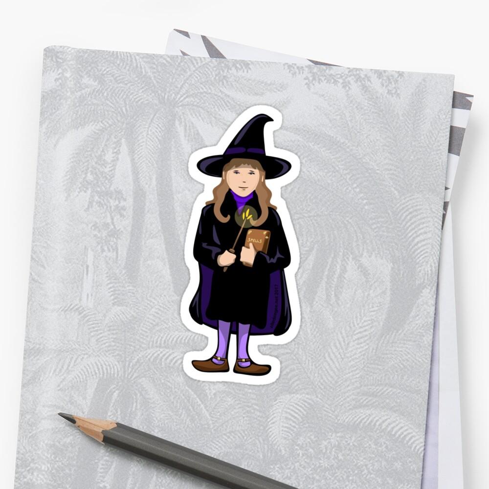 Wizard Girl Sticker