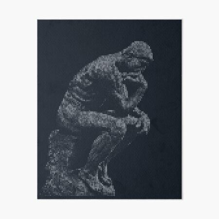 think digital Art Board Print