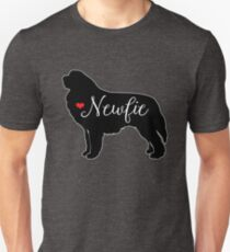 Newfie Love Newfoundland Dog Breed Silhouette  Slim Fit T-Shirt