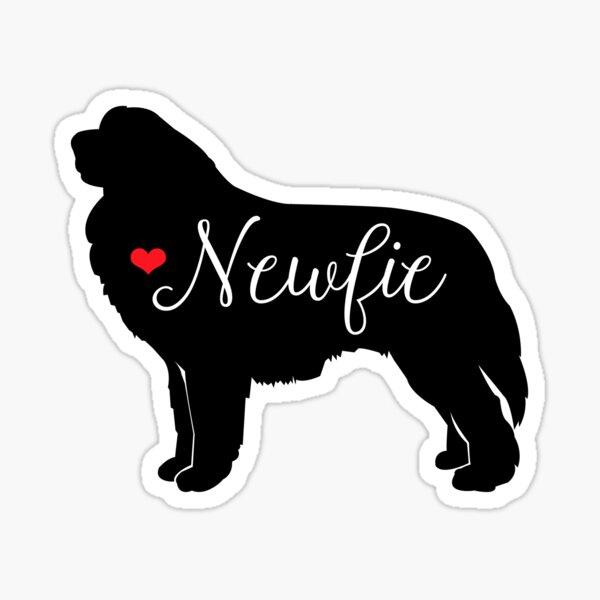 Newfie Love Newfoundland Dog Breed Classic Blue Sticker