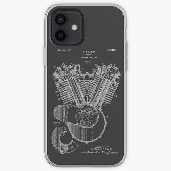 Harley Moteur Brevet Art Coque souple iPhone