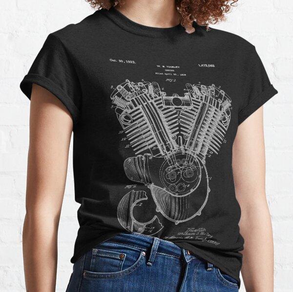Harley Engine Patent Art Classic T-Shirt