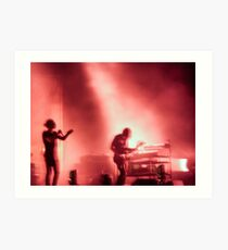 Thom and Jonny from Radiohead playing Lollapalooza Art Print