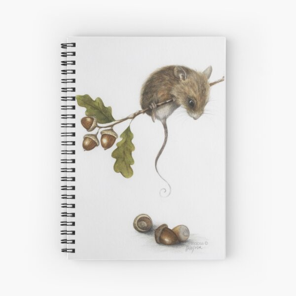 Mouse and acorns Spiral Notebook