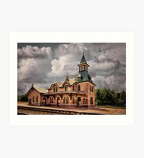 Train Station At Point Of Rocks Art Print