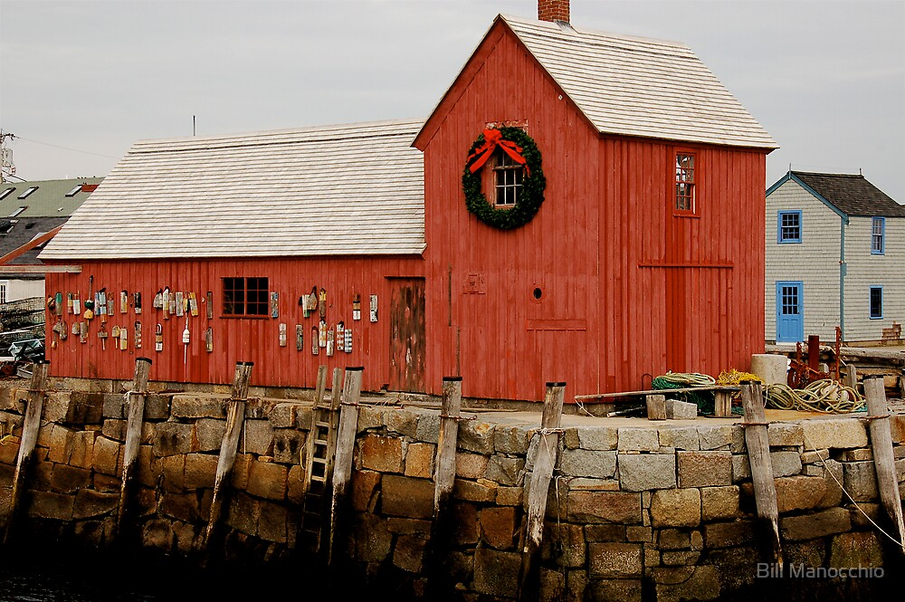 christmas at rockport by Bill Manocchio