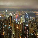 Hong Kong at Night by llemmacs