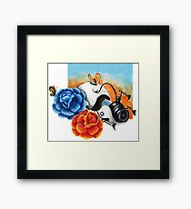 The Aperture Portal Device with Roses [FAN ART] Framed Print