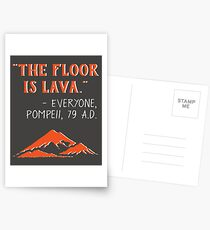 The Floor is Lava - Everyone Pompeii, 79 A.D. Funny History  Postcards