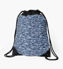 Blue Camouflage Drawstring Bag