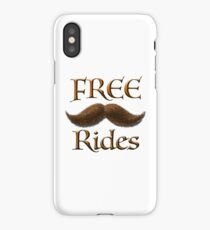 Free Mustache Rides iPhone Case