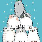 Kitty Cat Christmas Tree by Zoe Lathey