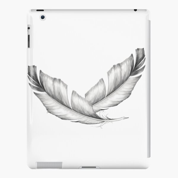 Two white feathers iPad Snap Case