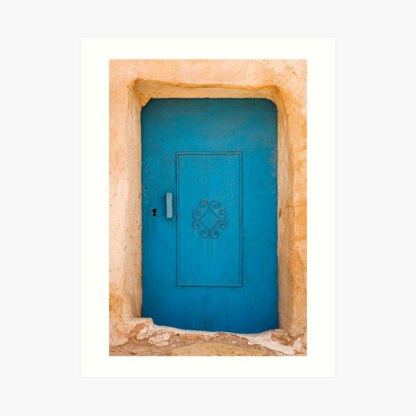 Tunisian Blue Door Art Print