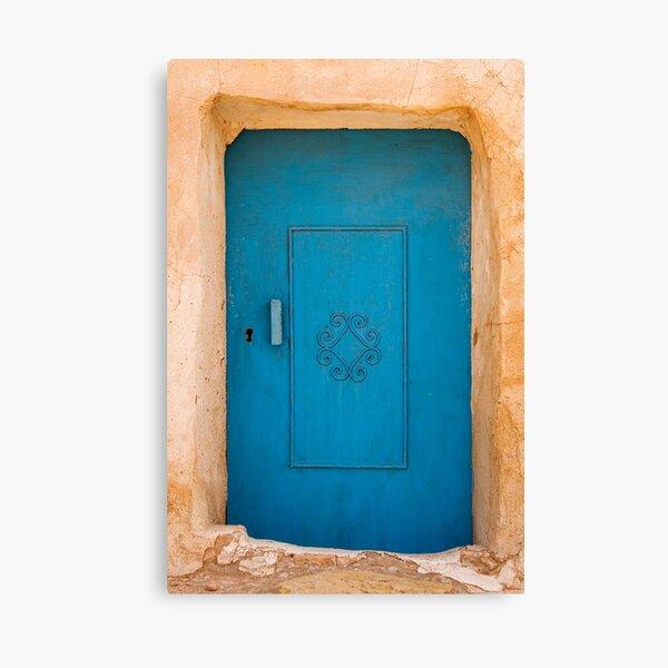 Tunisian Blue Door Canvas Print