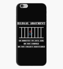 Illegal Argument - Java iPhone Case