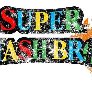 Super Smash Bros Logo W/ Mario World Colors by pituvision
