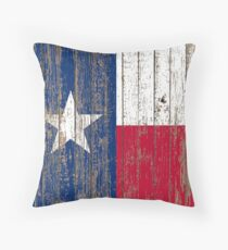 Primitive Woodgrain Western Country einsame Sterne Flagge von Texas Dekokissen
