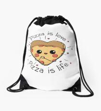 Pizza is life Drawstring Bag