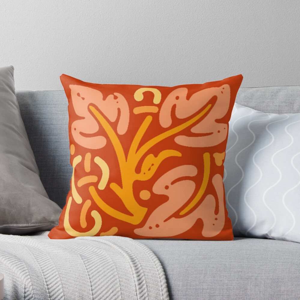 Beautiful Cushions/ Pattern Orange China Throw Pillow