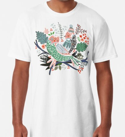 Holiday Birds Love Long T-Shirt