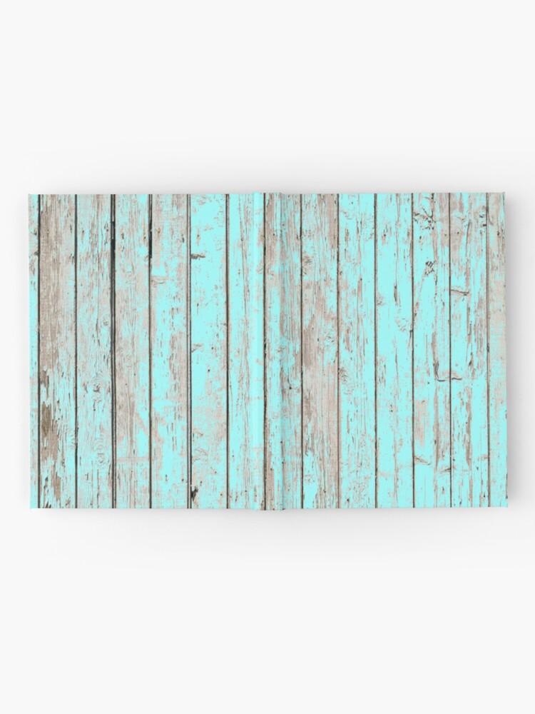 Alternative Ansicht von Distressed Shabby Chic Pastell Aqua Blau Holzmaserung Notizbuch
