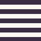 Preppy Girly Paris Chic Royal Purple White Stripes by lfang77