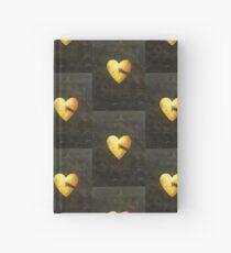 Yellow heart Hardcover Journal