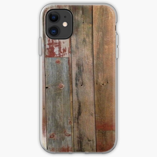 Farmhouse chic Rustic western country primitive barn wood iPhone Soft Case