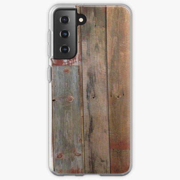 Farmhouse chic Rustic western country primitive barn wood Samsung Galaxy Soft Case